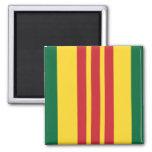 Vietnam Veteran 2 Inch Square Magnet