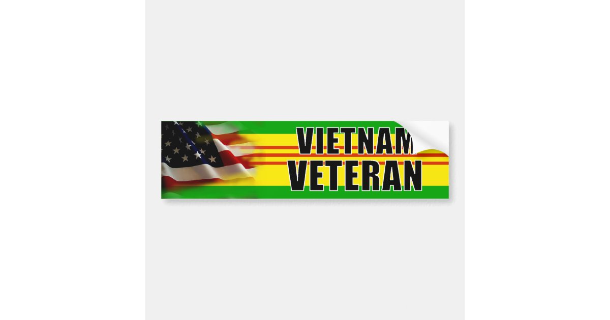 Vietnam Veteran Bumper Sticker | Zazzle.com