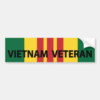 Vietnam Veteran Car Bumper Sticker
