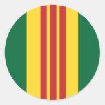 Vietnam Veteran Classic Round Sticker