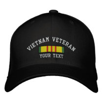Vietnam Veteran Embroidered Baseball Cap