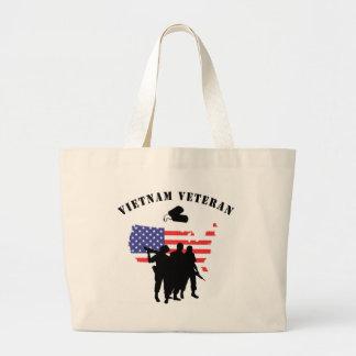 Vietnam Veteran Jumbo Tote Bag
