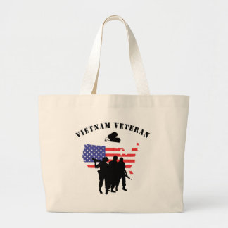 Vietnam Veteran Large Tote Bag