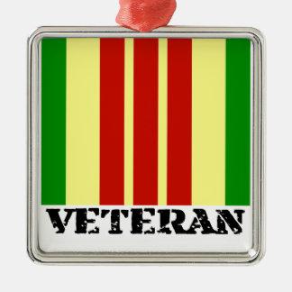 Vietnam Veteran Metal Ornament