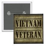Vietnam Veteran Military 2 Inch Square Button