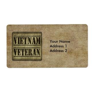Vietnam Veteran Military Label