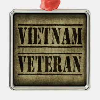 Vietnam Veteran Military Metal Ornament