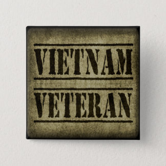 Vietnam Veteran Military Pinback Button