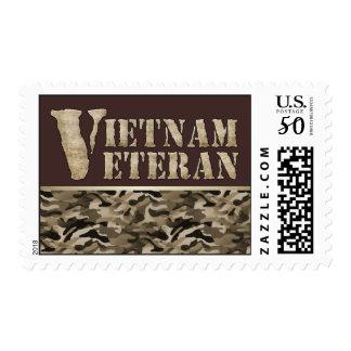 Vietnam Veteran Military Vet Camouflage Pattern Postage