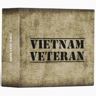 Vietnam Veteran Military Vet Soldier Binder