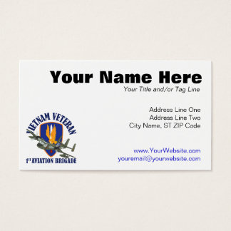 Vietnam Veteran Mohawk Business Card