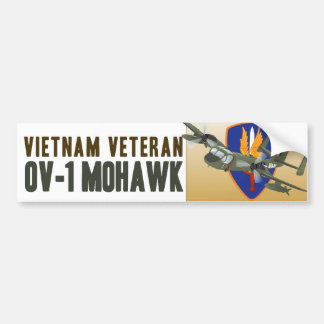 Vietnam Veteran Mohawk Car Bumper Sticker