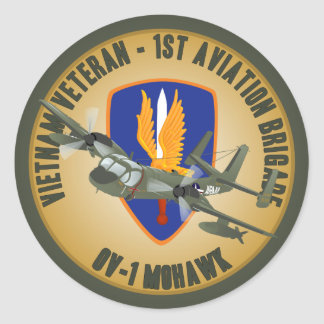 Vietnam Veteran Mohawk Classic Round Sticker