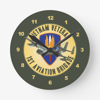 Vietnam Veteran Mohawk Round Clock