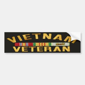 VIETNAM VETERAN PATCH  bumper sticker