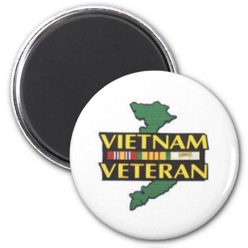 Vietnam Veteran Refrigerator Magnet