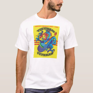 Vietnam Veteran Service Dragon Motif T-Shirt