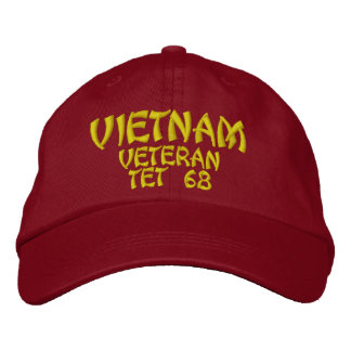 VIETNAM VETERAN TET 68 EMBROIDERED BASEBALL HAT