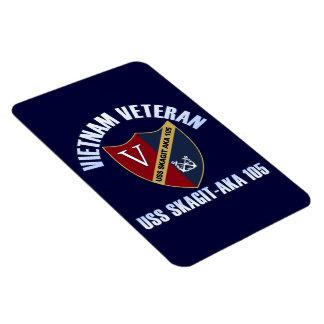 Vietnam Veteran - USS Skagit Magnet