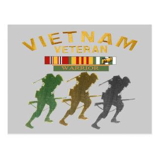 Vietnam Veteran Warrior cards, posters, paper item Postcard
