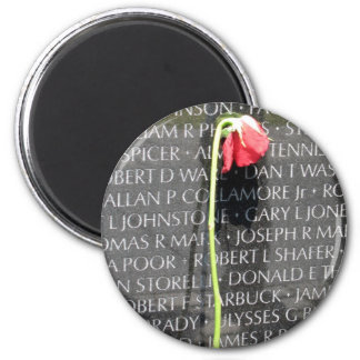 vietnam veterans memorial 2 inch round magnet