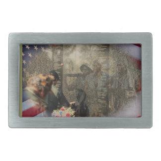 Vietnam Veterans' Memorial Rectangular Belt Buckle
