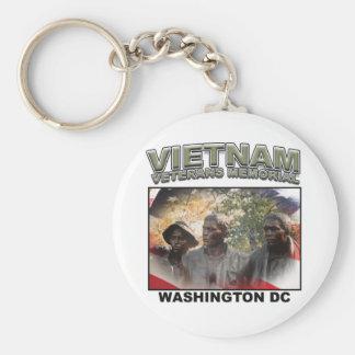 Vietnam Veterans' Memorial Basic Round Button Keychain