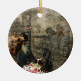 Vietnam Veterans' Memorial Double-Sided Ceramic Round Christmas Ornament