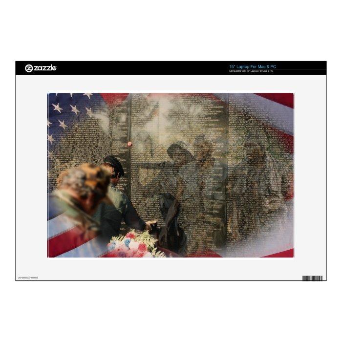"Vietnam Veterans' Memorial Skin For 15"" Laptop"