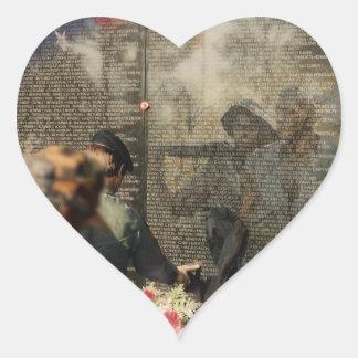 Vietnam Veterans' Memorial Heart Sticker