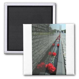 Vietnam veterans Memorial Wall 2 Inch Square Magnet