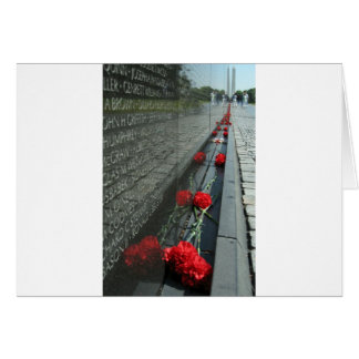 Vietnam veterans Memorial Wall Card