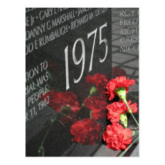 Vietnam Veterans Memorial Wall flower Postcard