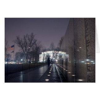 Vietnam Veterans Memorial with Lincoln Memorial Card