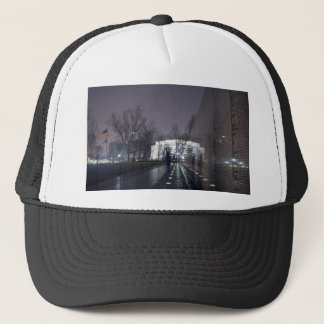 Vietnam Veterans Memorial with Lincoln Memorial Trucker Hat