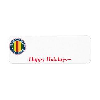 Vietnam Veterans of America Holiday Label #1