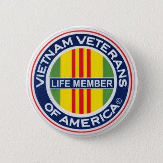Vietnam Veterans of America Lifetime Member Button