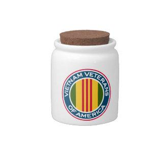 Vietnam Veterans of America Logo Candy Jars