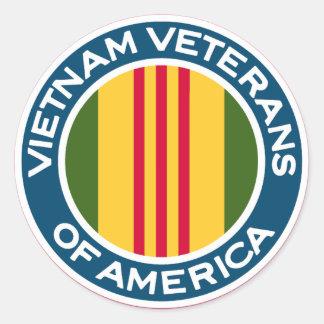 Vietnam Veterans of America Logo Classic Round Sticker