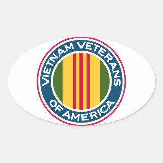 Vietnam Veterans of America Logo Oval Sticker