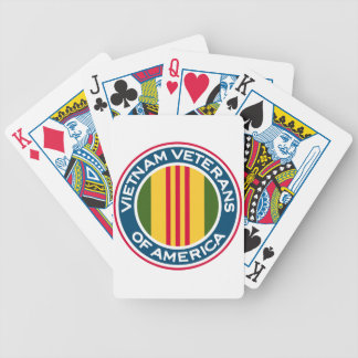 Vietnam Veterans of America Logo Bicycle Playing Cards