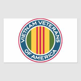 Vietnam Veterans of America Logo Rectangular Sticker