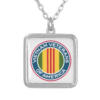Vietnam Veterans of America Logo Silver Plated Necklace