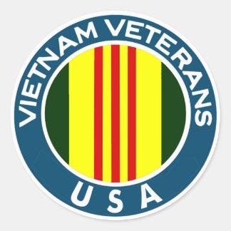 Vietnam Veterans of the USA Classic Round Sticker