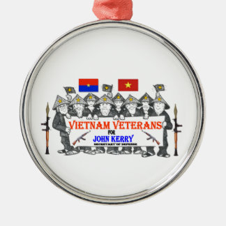 VIETNAM VETS for KERRY Round Metal Christmas Ornament