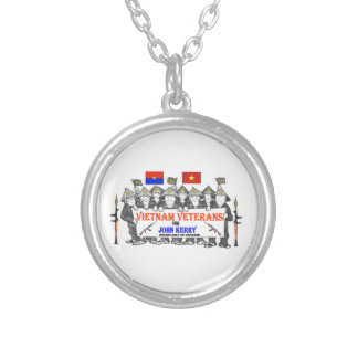 VIETNAM VETS for KERRY Round Pendant Necklace