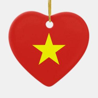 Vietnam – Vietnamese Flag Ceramic Ornament