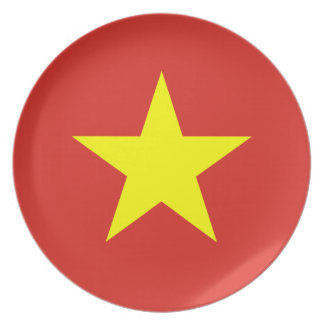 Vietnam – Vietnamese Flag Party Plate
