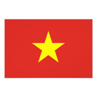 Vietnam – Vietnamese Flag Photo Print