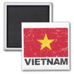 Vietnam Vintage Flag 2 Inch Square Magnet